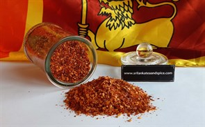 Red chilli pieces photo