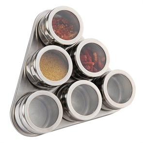 Набор для специй на магнитах 6шт треугольный фото