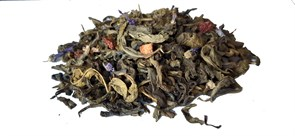 Green tea wild berries photo
